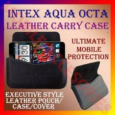 ACM-HORIZONTAL LEATHER CARRY CASE for INTEX AQUA OCTA MOBILE POUCH COVER HOLDER