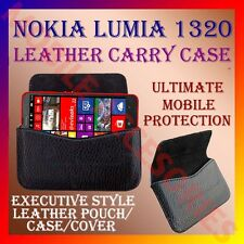 ACM-HORIZONTAL LEATHER CARRY CASE for NOKIA LUMIA 1320 MOBILE POUCH COVER HOLDER