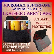 ACM-HORIZONTAL LEATHER CARRY CASE for MICROMAX SUPERFONE CANVAS XL A119 COVER