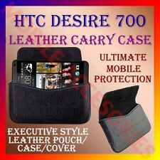 ACM-HORIZONTAL LEATHER CARRY CASE for HTC DESIRE 700 MOBILE POUCH PREMIUM COVER