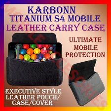 ACM-HORIZONTAL LEATHER CARRY CASE for KARBONN TITANIUM S4 MOBILE POUCH COVER