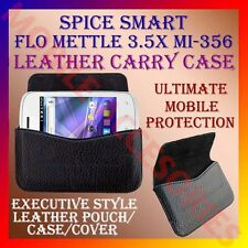 ACM-HORIZONTAL LEATHER CARRY CASE for SPICE SMART FLO METTLE 3.5X MI-356 COVER