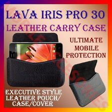 ACM-HORIZONTAL LEATHER CARRY CASE for LAVA IRIS PRO 30 MOBILE POUCH COVER HOLDER