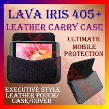 ACM-HORIZONTAL LEATHER CARRY CASE for LAVA IRIS 405+ MOBILE POUCH PREMIUM COVER