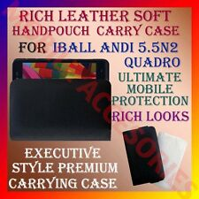 ACM-RICH LEATHER SOFT CARRY CASE for IBALL ANDI 5.5N2 QUADRO MOBILE COVER POUCH
