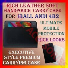 ACM-RICH LEATHER SOFT CARRY CASE for IBALL ANDI 4B2 MOBILE HANDPOUCH COVER CASE