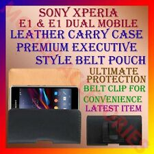 ACM-BELT CASE for SONY XPERIA E1 & E1 DUAL MOBILE LEATHER CARRY POUCH COVER CLIP