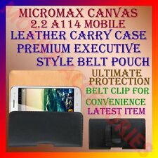 ACM-BELT CASE for MICROMAX CANVAS 2.2 A114 MOBILE LEATHER CARRY POUCH COVER CLIP