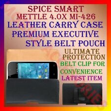 ACM-BELT CASE for SPICE SMART FLO METTLE 4.0X MI-426 LEATHER CARRY POUCH COVER