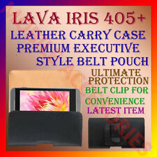 ACM-BELT CASE for LAVA IRIS 405+ MOBILE LEATHER CARRY POUCH COVER CLIP HOLDER