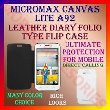 ACM-LEATHER DIARY FOLIO FLIP FLAP CASE for MICROMAX CANVAS LITE A92 MOBILE COVER