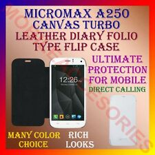 ACM-LEATHER DIARY FOLIO FLIP CASE for MICROMAX A250 CANVAS TURBO MOBILE COVER