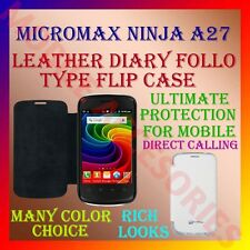 ACM-LEATHER DIARY FOLIO FLIP FLAP CASE for MICROMAX NINJA A27 MOBILE FULL COVER