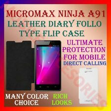 ACM-LEATHER DIARY FOLIO FLIP FLAP CASE for MICROMAX NINJA A91 MOBILE FULL COVER
