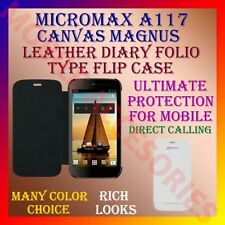 ACM-LEATHER DIARY FOLIO FLIP CASE for MICROMAX A117 CANVAS MAGNUS MOBILE COVER