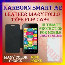 ACM-LEATHER DIARY FOLIO FLIP CASE for KARBONN SMART A2 MOBILE FRONT/BACK COVER