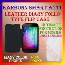 ACM-LEATHER DIARY FOLIO FLIP FLAP CASE for KARBONN SMART A111 MOBILE FULL COVER