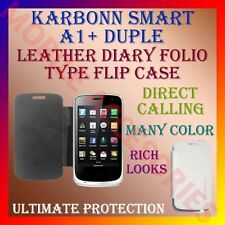 ACM-LEATHER DIARY FOLIO FLIP FLAP CASE for KARBONN SMART A1+ DUPLE MOBILE COVER