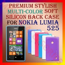 ACM-PREMIUM MULTI-COLOR SOFT SILICON BACK CASE for NOKIA LUMIA 525 MOBILE COVER