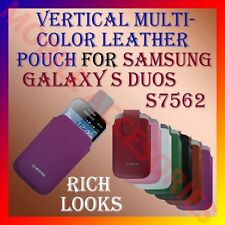 ACM-VERTICAL LEATHER CARRY CASE POUCH COVER MULTI-COLOR for SAMSUNG S DUOS S7562