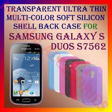 ACM-TRANSPARENT THIN COLOR SILICON for SAMSUNG S DUOS S7562 BACK COVER CASE NEW