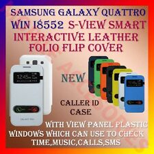 ACM-S-VIEW SMART INTERACTIVE LEATHER FLIP CASE SAMSUNG QUATTRO WIN I8552 COVER