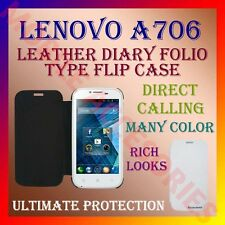 ACM-LEATHER DIARY FOLIO FLIP FLAP CASE for LENOVO A706 MOBILE FRONT & BACK COVER