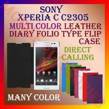 ACM-LEATHER DIARY FOLIO FLIP FLAP CASE for SONY XPERIA C C2305 MOBILE FULL COVER