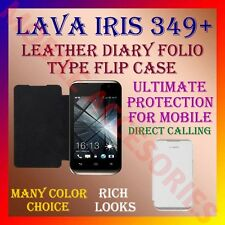 ACM-LEATHER DIARY FOLIO FLIP CASE for LAVA IRIS 349+ MOBILE FRONT & BACK COVER