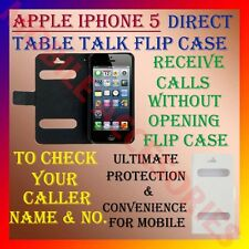 ACM-CALLER ID MULTI-COLOR TABLE TALK CASE for APPLE IPHONE 5 FLIP FLAP COVER