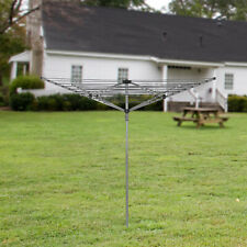 30M/40M/50M/60M GARDEN 4 & 3 ARM ROTARY WASHING LINE CLOTHES DRYER AIRER LAUNDRY