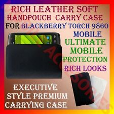ACM-RICH LEATHER SOFT CARRY CASE for BLACKBERRY TORCH 9860 MOBILE COVER POUCH