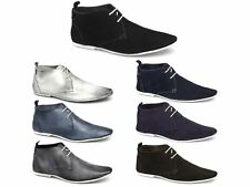 Gucinari Mens Leather Suede G Fit Lace-Up Casual Smart Office Ankle Desert Boots