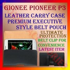 ACM-BELT CASE for GIONEE PIONEER P3 MOBILE LEATHER CARRY POUCH COVER CLIP HOLDER