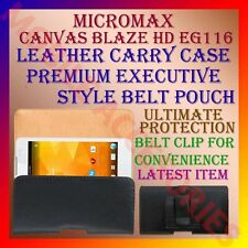 ACM-BELT CASE for MICROMAX CANVAS BLAZE HD EG116 LEATHER CARRY POUCH COVER CLIP