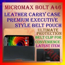 ACM-BELT CASE for MICROMAX BOLT A46 MOBILE LEATHER CARRY POUCH COVER HOLDER NEW