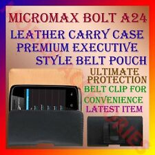 ACM-BELT CASE for MICROMAX BOLT A24 MOBILE LEATHER CARRY POUCH COVER HOLDER NEW