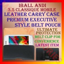 ACM-BELT CASE for IBALL ANDI 3.5 CLASSIQUE MOBILE LEATHER CARRY POUCH COVER NEW