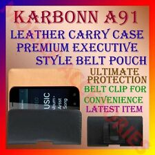 ACM-BELT CASE for KARBONN A91 MOBILE LEATHER CARRY POUCH COVER CLIP HOLDER NEW