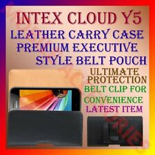 ACM-BELT CASE for INTEX CLOUD Y5 MOBILE LEATHER CARRY POUCH COVER CLIP HOLDER