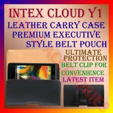 ACM-BELT CASE for INTEX CLOUD Y1 MOBILE LEATHER CARRY POUCH COVER CLIP HOLDER