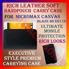 ACM-RICH LEATHER SOFT CARRY CASE for MICROMAX CANVAS BLAZE HD EG116 POUCH COVER