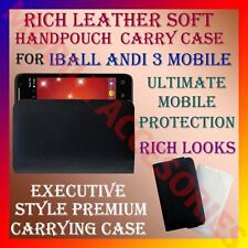 ACM-RICH LEATHER SOFT CARRY CASE for IBALL ANDI 3 MOBILE HANDPOUCH PREMIUM COVER
