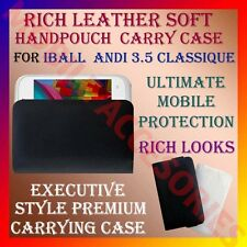 ACM-RICH LEATHER SOFT CARRY CASE for IBALL ANDI 3.5 CLASSIQUE MOBILE HANDPOUCH