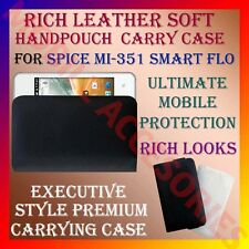 ACM-RICH LEATHER CARRY CASE for SPICE MI-351 SMART FLO MOBILE HANDPOUCH COVER