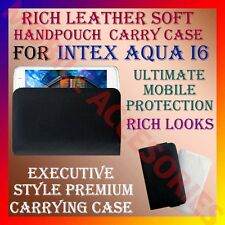 ACM-RICH LEATHER SOFT CARRY CASE for INTEX AQUA I6 MOBILE HANDPOUCH COVER HOLDER