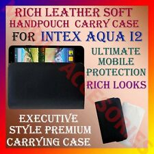 ACM-RICH LEATHER SOFT CARRY CASE for INTEX AQUA I2 MOBILE HANDPOUCH COVER HOLDER