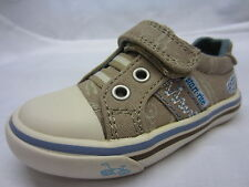 Boys Startrite Shoes In Light Brown Canvas 'Skate Park'