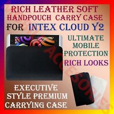 ACM-RICH LEATHER SOFT CARRY CASE for INTEX CLOUD Y2 MOBILE HANDPOUCH COVER CASE