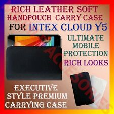 ACM-RICH LEATHER SOFT CARRY CASE for INTEX CLOUD Y5 MOBILE HANDPOUCH COVER CASE